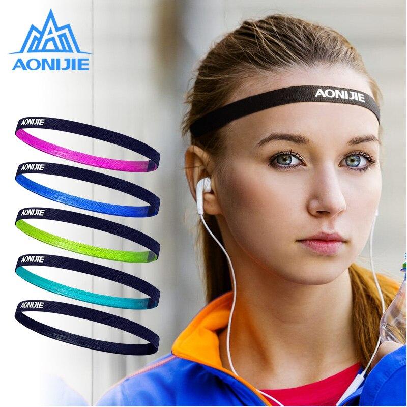 AONIJIE Yoga Headbands for Women Men High Elastic Tennis Hair Band Outdoor Running Jogging Anti-slip Elastic Sweatband