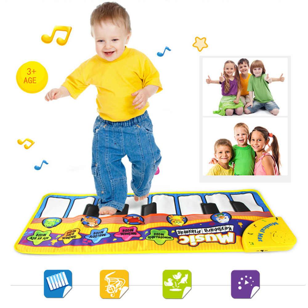 MrY Baby музыкальный игровой коврик пианино клавиатура для раннего развития игрушки животное Луна покрывало, плед игрушки подарок
