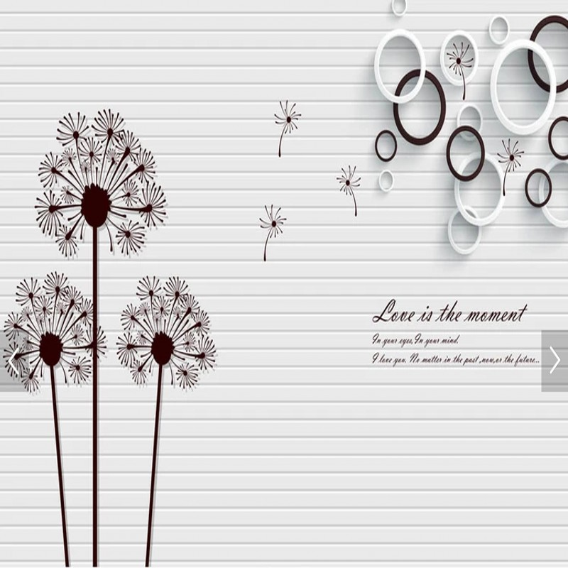 Custom 3D photo wallpaper  modern minimalist dandelion flowers in the water TV background mural Living room wallpaper custom baby wallpaper snow white and the seven dwarfs bedroom for the children s room mural backdrop stereoscopic 3d