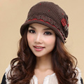 2017 Limited Rushed Solid Adult Casual Hats For Women Hats Gorros Winter Hat Roll-up Women's Hem Pure Wool Cap Thermal Knitted