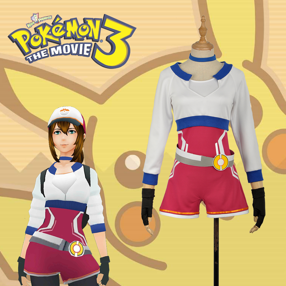 Hand Tour Pokemon Go BlueTrainers Female Version Cosplay Costume For Christmas For Adult Any Size with