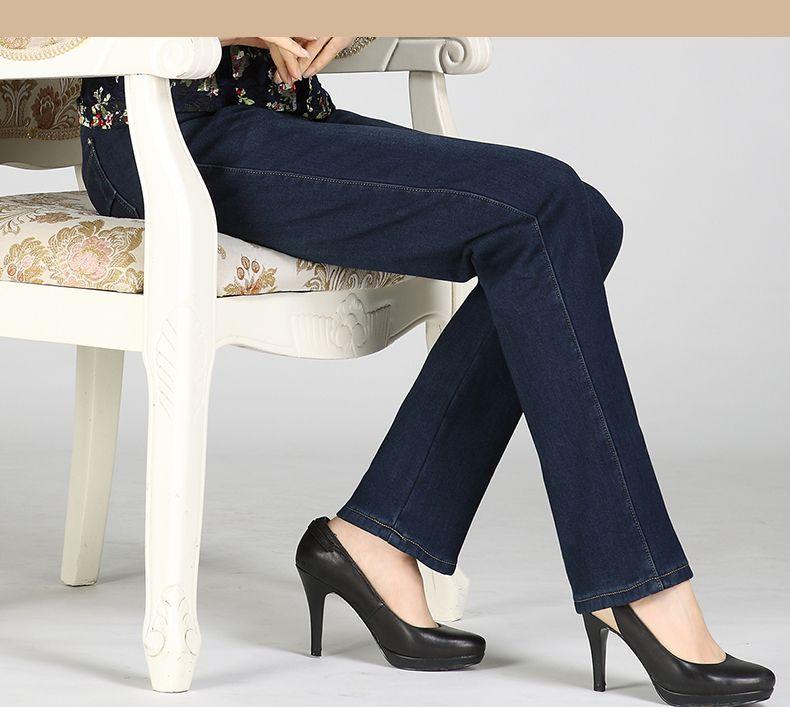 Women Winter Jeans Pants Dark Blue Denim Trousers Woman Casual Thicken Jean Trouser Fleece Denim Pant Straight Pantalones Mujer (8)