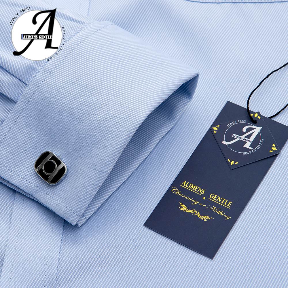 Alimens 13XL 8XL 7XL Big Size Slim Fit Male Casual Shirts Brand Camisa Masculina Long Sleeve French Cuff Dress Shirts For Men 5