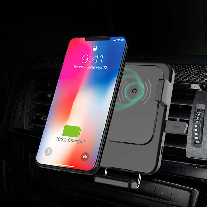 Lieve QI Wireless Charger with Car holder for Iphone Air Vent Fast Mobile Cell Phone Holder Charging 2018