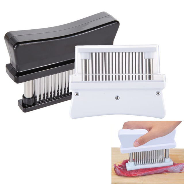 Meat Tenderizer Kitchen Restaurant Practical Meat Tenderizer with 48 Sharp Stainless Steel Blades and ABS Meat & Poultry Tools