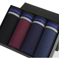 New Cotton Men S Trunks Breathable Boxershorts Comfortable Solid Underwear Men 4Pcs Lot Sexy Boxer Shorts