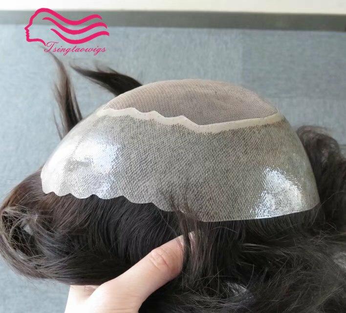 Наличии натуральные волосы для мужчин парик Apollo, tsingtaowigs протез, волосы кусок Замена Бесплатная доставка