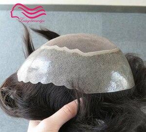 Image 1 - شعر مستعار للرجال شعر أبولو طبيعي ، شعر مستعار ، قطعة شعر بديلة شحن مجاني