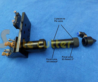 Sales CO2 Laser Head 63 5mm 100mm Focal Focus Lens 20mm Reflective Mirror 20mm Integrative Mount