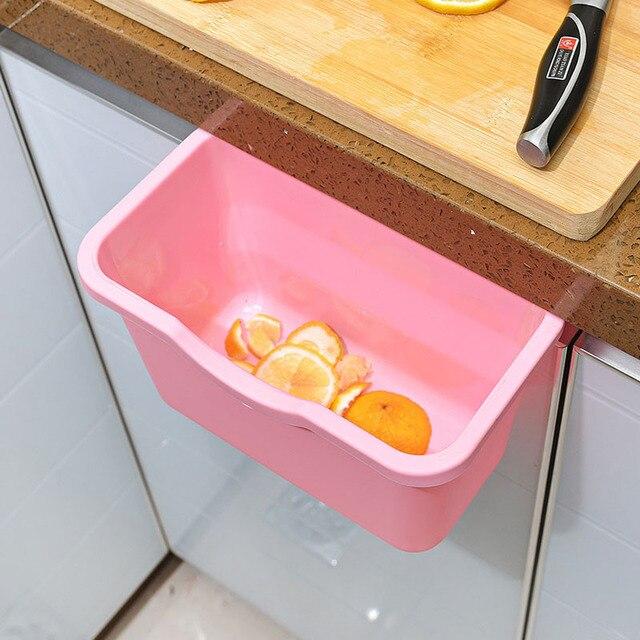 Hot Hanging Kitchen Waste Bin Hanged Cupboard Door Eco Pp Simple Garbage S Storage Box