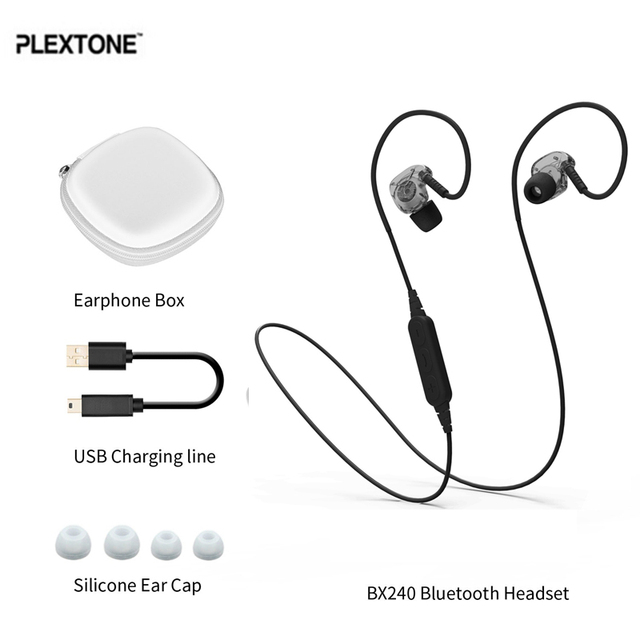 Plextone bx240 ipx5 impermeable deporte auricular bluetooth para auriculares con micrófono para iphone 7 for samsung s7 s6 para xiaomi smartphones