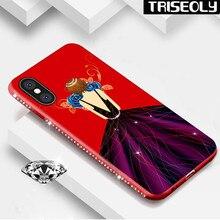 Для iphone х чехол для iphone 8 Plus блестящие Девушка Мягкие TPU чехол для iPhone 6 6 S 7 плюс