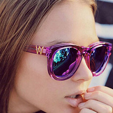 OOBON 2017 Wildfox Designer Points Sunglass Women New Fashion Brand Sunglasses Women Vintage Mirror Sun Glasses Oculos de sol