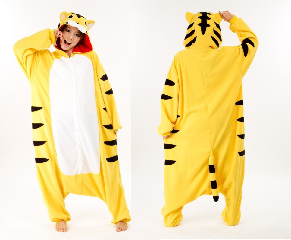 nouveau adulte animal pyjamas costume onesie nuit pyjamas jaune tigre animal pyjamas one piece. Black Bedroom Furniture Sets. Home Design Ideas