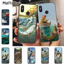 MaiYaCa Trout Panel Painting fish Fishing sport First-rate Phone Case for xiaomi mi6 8 se note2 3 mix2 redmi 5 5plus note 4 5 5(China)