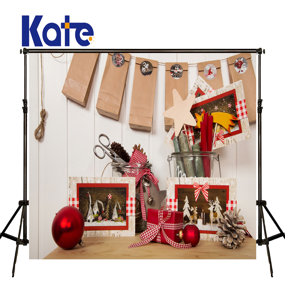 KATE Photo Background Christmas Photo Backdrop Christmas Decorations For Home White Solid Wood Wall Backdrops for Photo Studio