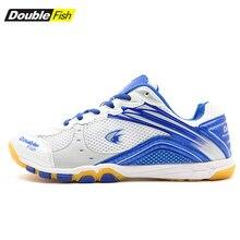 Обувь для настольного тенниса с двойной рыбой; Df-868 обувь для пинг-понга; дышащие кроссовки для тренировок