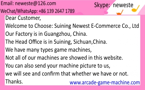 We\'re a manufacturer for game machines