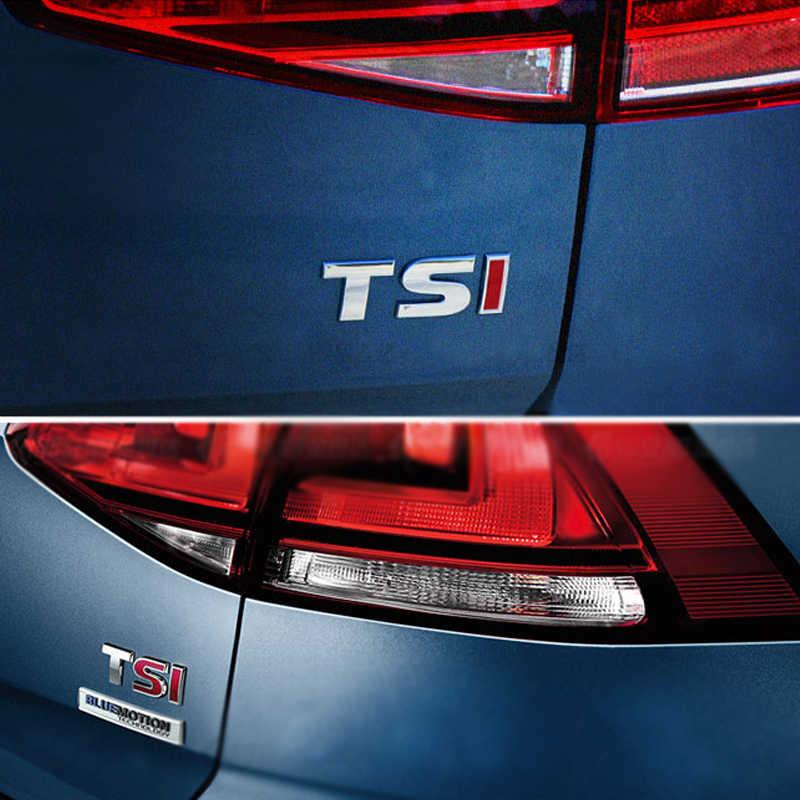 1 шт. 3D металлический TSI автомобильный боковой крыло задний багажник эмблема значок наклейки для Volkswagen Sagitar, GOLF Magotan Polaris Boracay