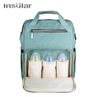 Insular Baby and Mother Bags with Wet Bag Large Diaper Changing Backpack for Moms Backpacks for Newborn Stuff Stroller Bag 10056