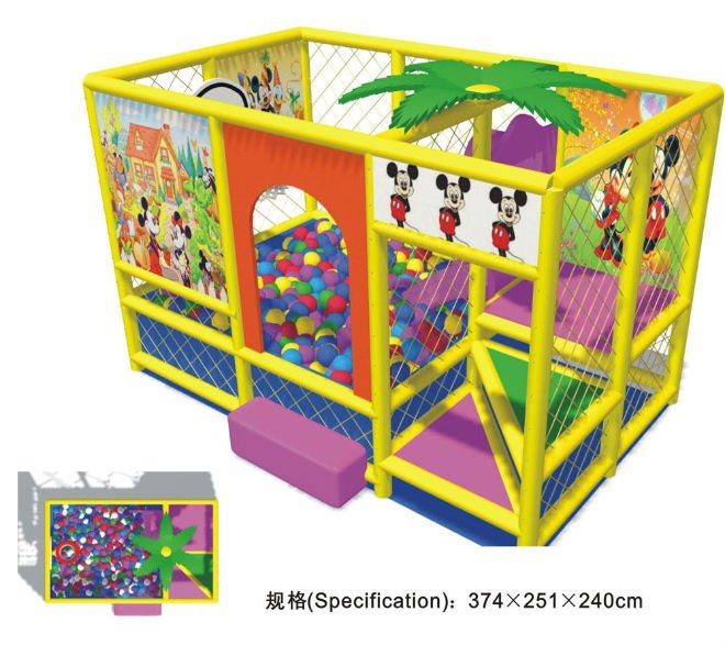 Indoor playground equipment/ naughty castle/ kids indoor ...