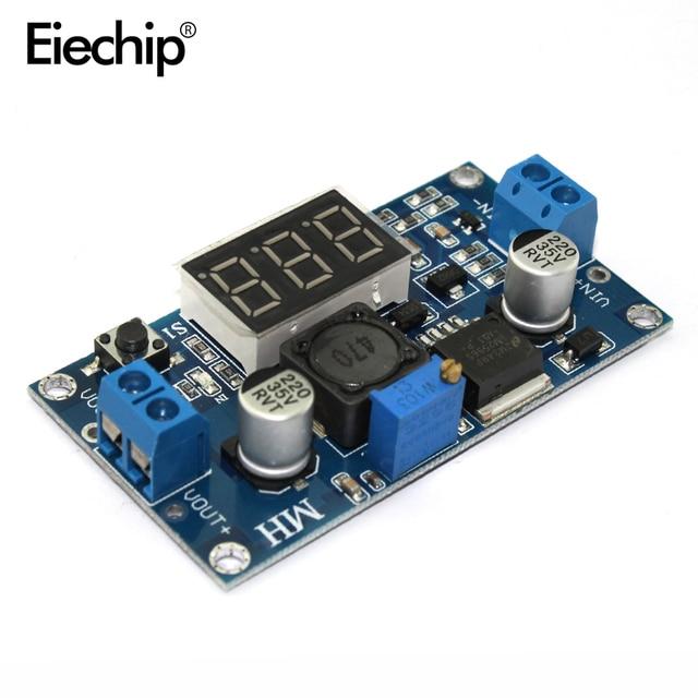 DC Buck Step Down Module LM2596 DC-DC 4.0~40V to 1.25-37V Adjustable Voltage Regulator With LED Voltmeter DC-DC 2A Short Circuit