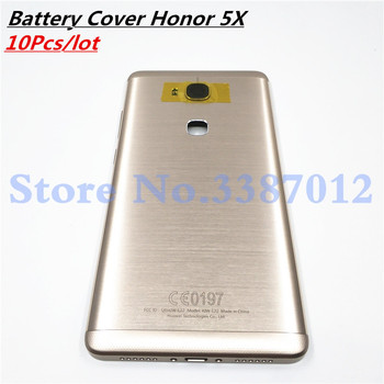 10Pcs/lot New Battery Metal Aluminum Back Cover For Huawei Honor 5X Housing Case With Camera Lens + Power Volume Buttons