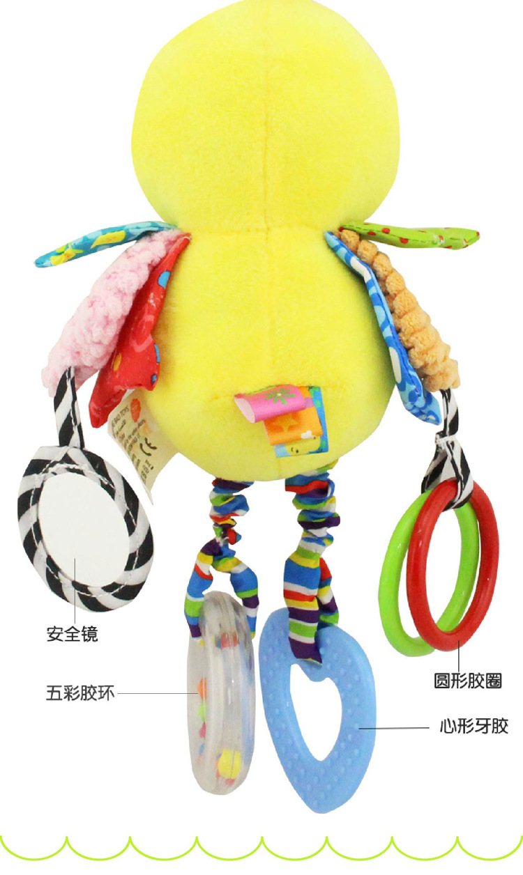Bird Educational Fun Kids Animal Happy Monkey Wind Bell Doll Infant Plush Bb Device Gift Newborn Cognition Cartoon Soft Baby Toy Baby Rattles & Mobiles