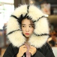 Women Women New Faux Fox Fur Collar Multicolor Raccoon Shawl Collar Fur Female Fashion Autumn and Winter Warm Shawl Scarves