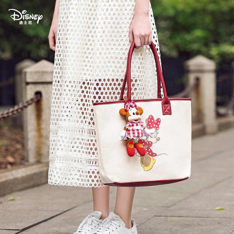 Chính hãng Disney 90th Ấn Bản Kỷ Niệm Cổ Điển Vải Bố Đa chức năng Đơn Giản Vải Nữ Vải Canvas Thời Trang Xác Ướp Túi cho Bé Gái