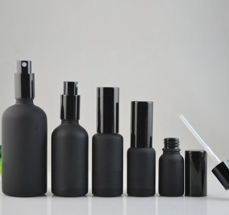 10ml,20ml,30ml,50ml,100ml Black frosted glass spray Bottle, Empty Lotion Pump Bottle, Cosmetic packaging container 10ml 15ml 30ml 50ml 100ml empty glass perfume spray bottle diy elegant black glass lotion pump bottle empty emulsion container