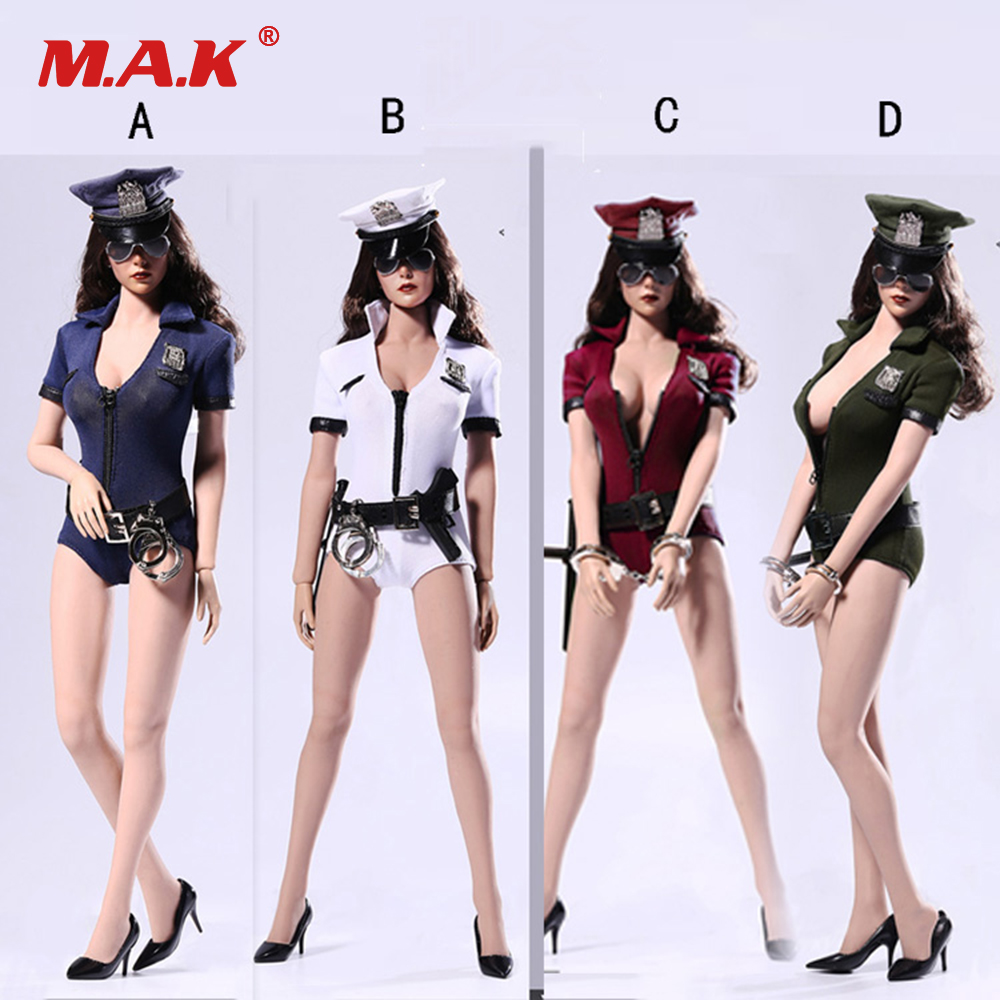 1/6 Female Clothes Set F26 Cosplay Sexy Policewoman Suit With Gun Handcuff Model Accessory for 12 inches Action Figure1/6 Female Clothes Set F26 Cosplay Sexy Policewoman Suit With Gun Handcuff Model Accessory for 12 inches Action Figure