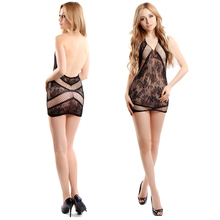 2016 Super Deal Sexy Black Lace Neck Fishnet Body Stocking Sexy Lingerie Nets Clothings Sex Costumes Mesh 8681B