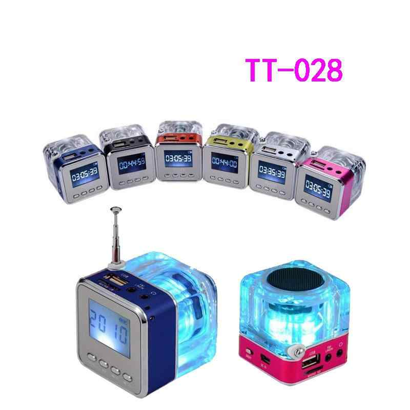 BEESCLOVER Nizhi tt-028  Mini USB MicroSD Card FM Radio LCD Display Speaker Potable Music MP3 Player Speaker with USB cable r25