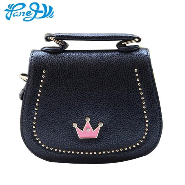 cbb6cc53330d Модная мини-сумка для девочек с короной и принцессой, сумки через плечо из  искусственной