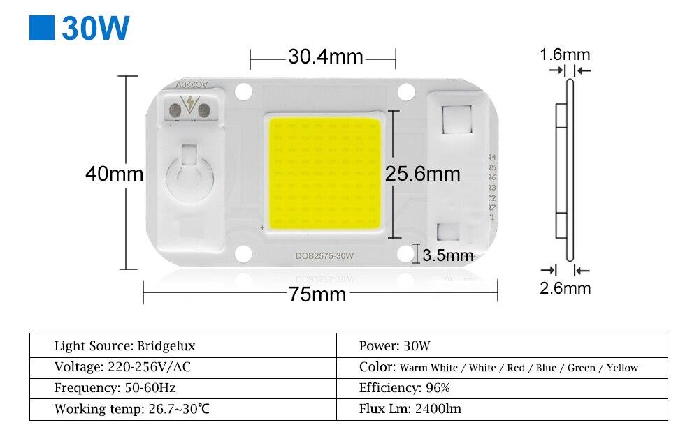 AC220V 20w 30w 50w cob led grow light chip (12)