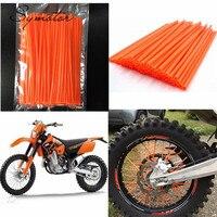 Colorful Florescent Motorcycle Wheel Rim Cover Spoke Skins Wrap Tubes Universal For Dirt Bike ATV Quad