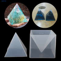 JAVRICK Super Pyramid Silicone Mould Resin Craft Jewelry Crystal Mold With Plastic Frame jewelry Crafts resin molds