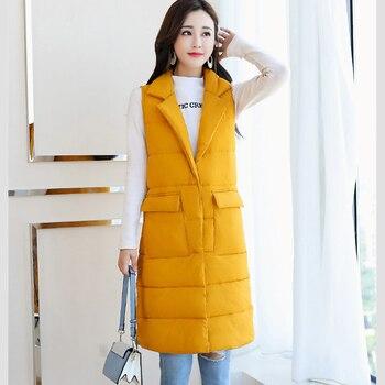 #Women Winter #Jacket Temperament #Fashion Long Lapels Vest Parka Coat Warm Jacket Overcoat #boygrl