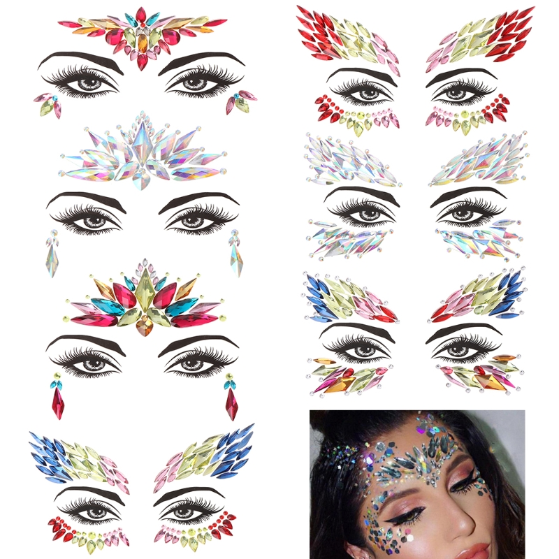 Delicate beautiful Face Eye Jewel Acrylic Rhinestone