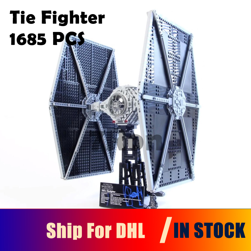 Model Building Toys hobbies Educational Blocks 1685pcs Star 05036 Series Wars Tie Fighter Bricks Compatible with lego 75095 Gift