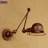 IWHD Loft Stil Doppel Schaukel Arm LED Wand Leuchte Eisen Nacht Wand Lampe Industrielle Vintage Wand Leuchten Innen Beleuchtung