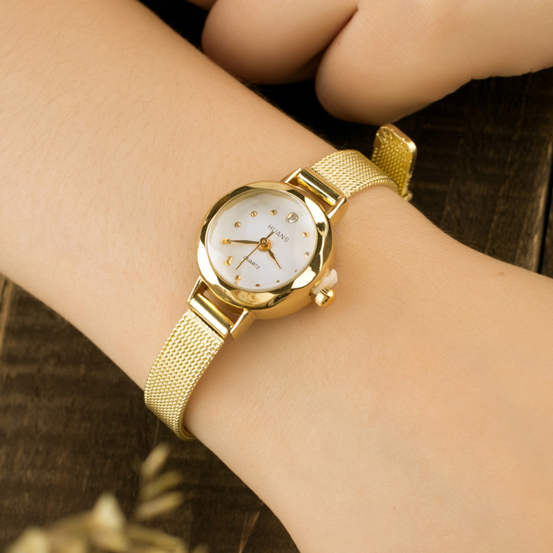 SUPIN Fashion Vintage Small Quartz Watch Gold silver Hand Link Chain Jewelry Bracelets Bangles Charm Bracelet