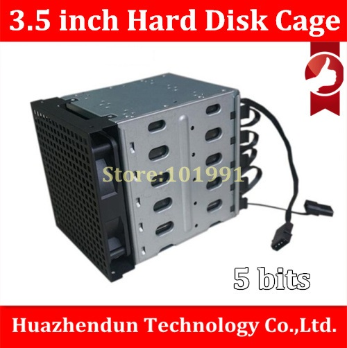 DEBROGLIE  New HDD Cage 1PCS Hard Disk Cage 3.5'' Hard Disk Drive Mounting Bracket Kit Save Space Put In 5PCS Hard Drives