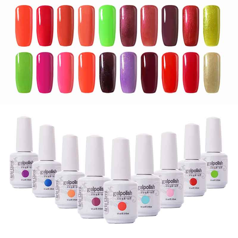 Bergaya Arte Clavo 1523 UV Gel Nail Lacquer Gel Poland Nail Gel Seni Set Gel UV Warna Rendam Off Nail Polish