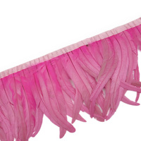 Wholesale 30 35CM Pink Rooster tail feather trim Coque feather trimmed ribbon DIY dress skirt decoration accessories