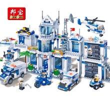 BanBao עיר סדרת משטרת תחנת מסוק מכוניות לבנים חינוכיים אבני בניין דגם צעצועי 8353 לילדים ילדים מתנות