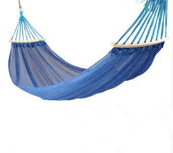 Fashion Creative Ice Silk Hammock Outdoor Swing Single Mesh Hammock Indoor Bedroom Personality Simple Double Chair Hammock Q361