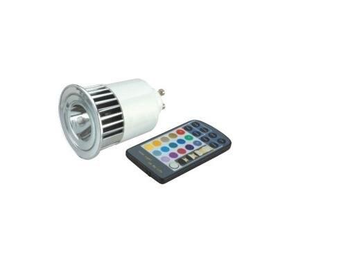 1*5W GU10 RGB led spot light with remote controller;P/N:SZSXDT-SP-3W-GU10