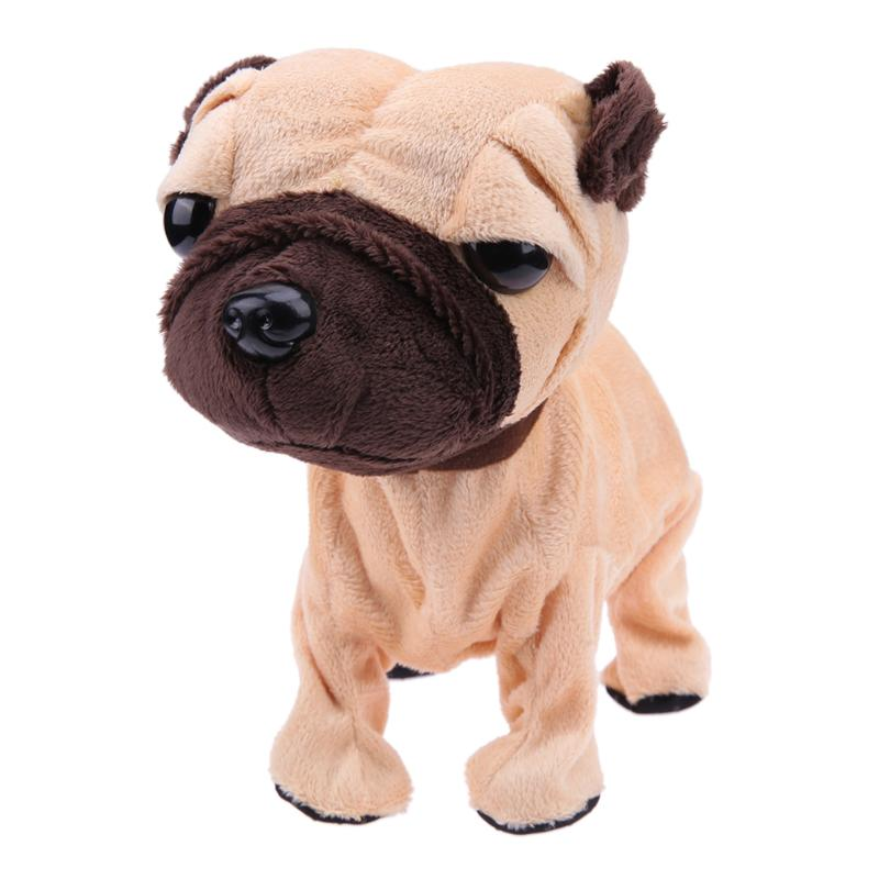 Electronic Pet Dog Toy with Sound Control Plush Dog Toys Intelligent Touch Control Interactive Toy for Kids Children Gifts